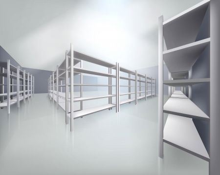 repository: Empty shelves in store  illustration
