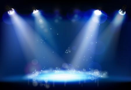 夜のパフォーマンス図  イラスト・ベクター素材