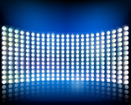 luz: Pared de luces ilustración vectorial Vectores