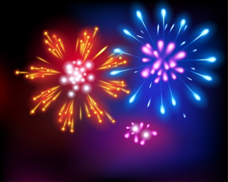 Fireworks  Vector illustration  Stock Vector - 24195229