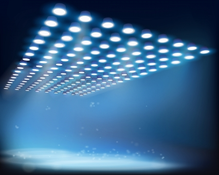 empty stage: Light beams  Vector illustration