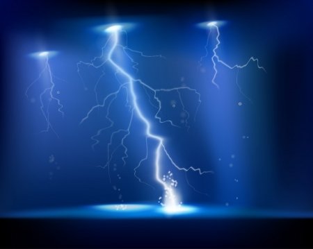electrical: Electrical storm  Vector illustration