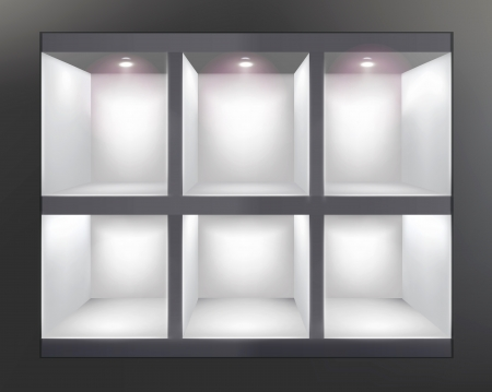 Shelves in shop Vector illustration Ilustração Vetorial