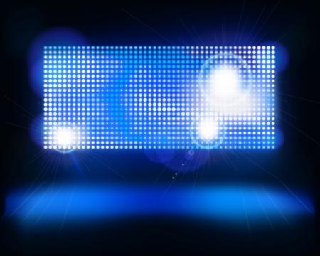 Bildschirm auf der Bühne Vektor-Illustration