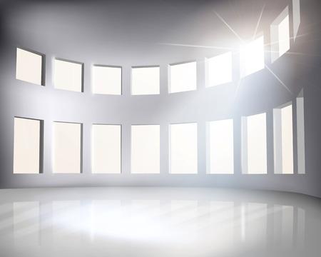 office windows: Arena  Vector illustration  Illustration