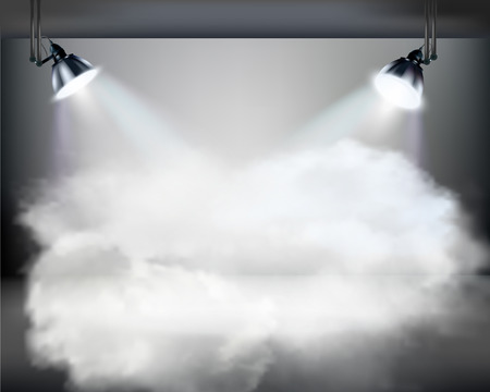 Smoky stage - Vector illustration  Vector