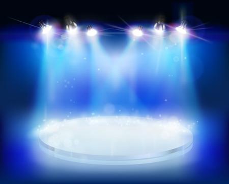 Espectáculo de luz - ilustración vectorial