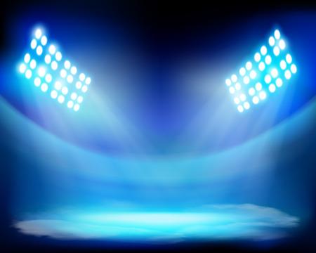 Show on the stadium - Vector illustration Vector