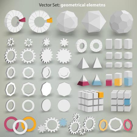 ベクトルの幾何学的な要素 - 多くのグラフィック要素を作成するあなたのレイアウト  イラスト・ベクター素材