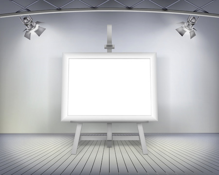 Picture in art gallery - Vector illustration