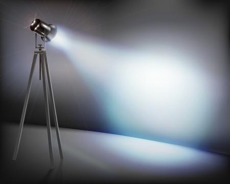 Pared iluminada - ilustración vectorial