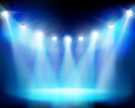 Illuminated stadium  Vector illustration  Vector