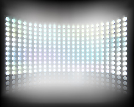led screen: Large multimedia screen  Illustration
