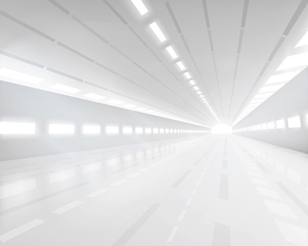 Empty white hall - Vector illustration.