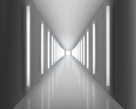 Verlichte doorgang. Stock Illustratie