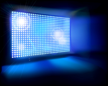 club scene: Big LED Screen illustration Illustration