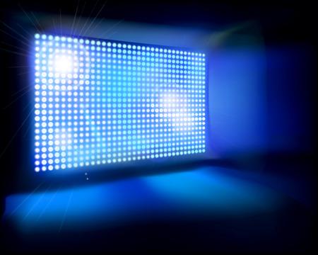 Big LED Screen illustration Vectores