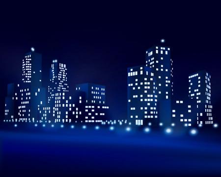 City at night - Vector illustration Vector