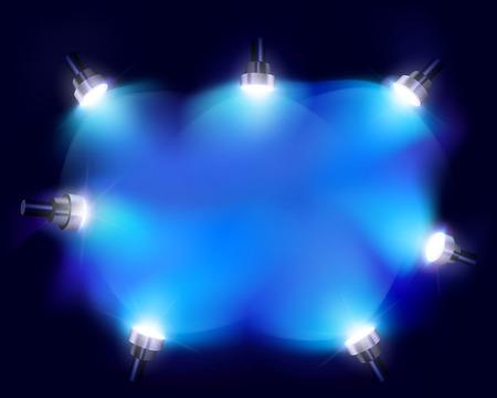 Flashlights - Vector illustration Vector