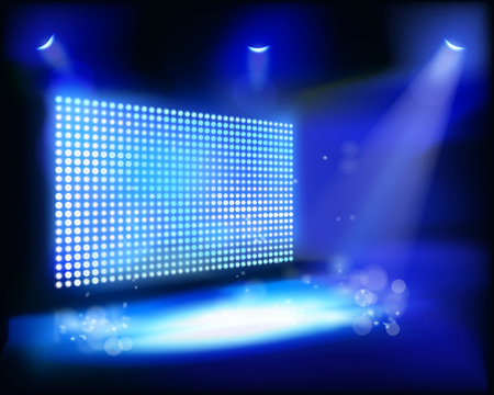 led screen: Opening night - Vector illustration
