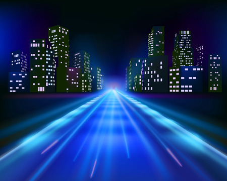 route: En route pour la ville Illustration