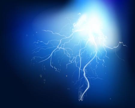 redes electricas: Explosión eléctrica - ilustración vectorial