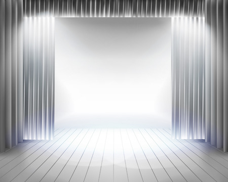 Stage curtain - Vector illustration Vector