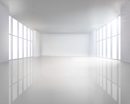 Illuminated interior illustration Illustration