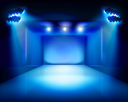 Stage with runway - Vector illustration