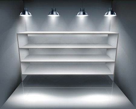 Shelves in storeroom - Vector illustration Vector