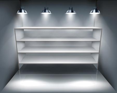 Shelves in storeroom - Vector illustration Ilustracja