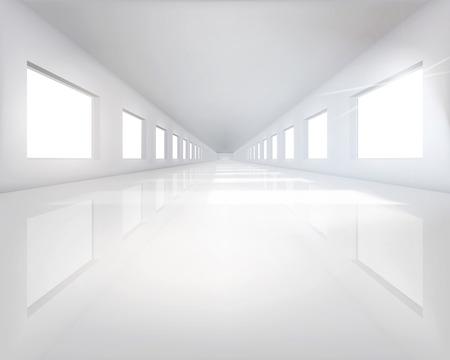 長いホール - ベクトル イラスト