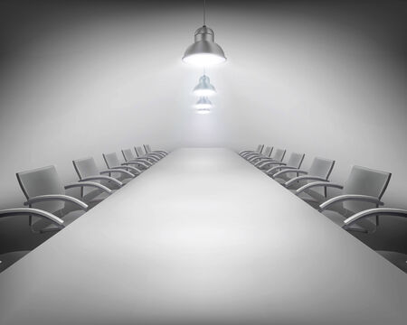 empty office: Conference - Vector illustration