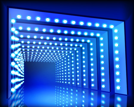 tunel: Iluminación del túnel - ilustración vectorial