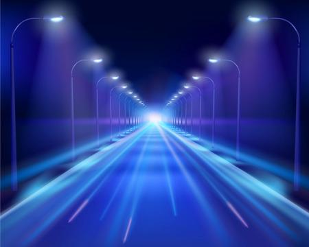 night: Road in the night Illustration.