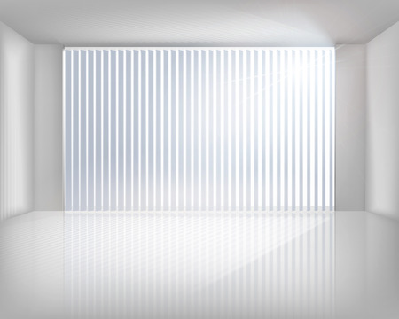 Window with blinds. Vector illustration.