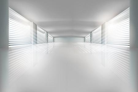 Illustration of empty hall. Vector illustration. Illustration