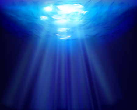 Raios de sol subaquático