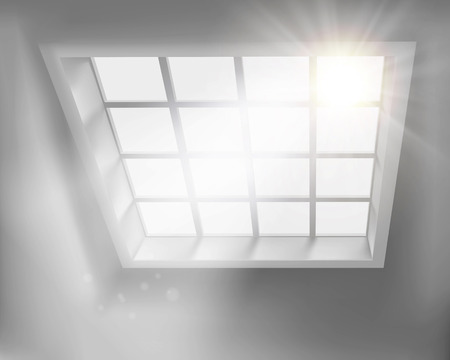 sunlit: Sunlit window. Vector illustration. Illustration