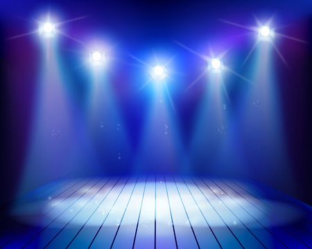 Empty stage illustration. Stock Illustratie