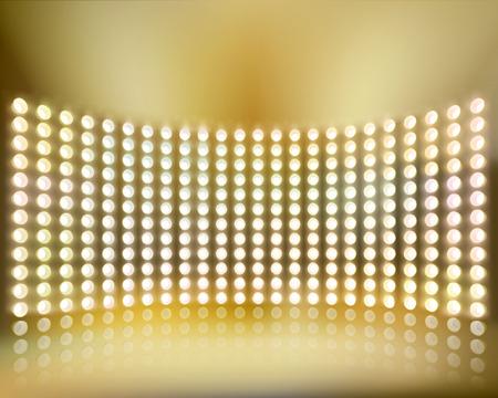 Light show. Vector illustration. Stock Illustratie