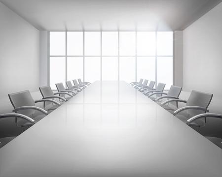前の会議。ベクトル イラスト。