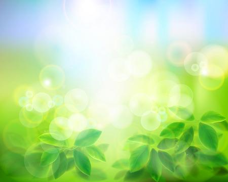 초록: 자연 배경입니다. 벡터 일러스트 레이 션.