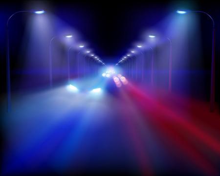 고속도로: Illustration of highway. Vector illustration. 일러스트