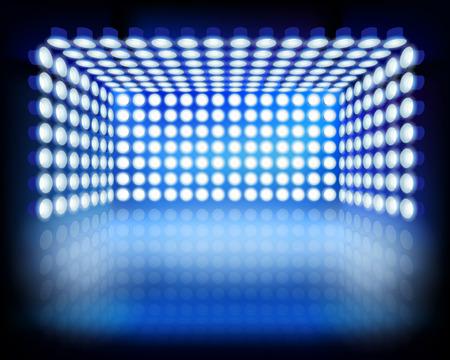 Lighting box. Vector illustration. Ilustracja