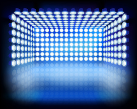 Lighting box. Vector illustration. Stock Illustratie