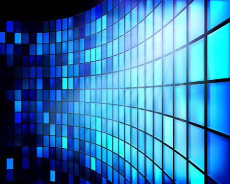 Led スクリーン。ベクトルの図。