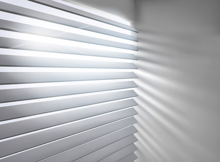 Window with blinds illustration.