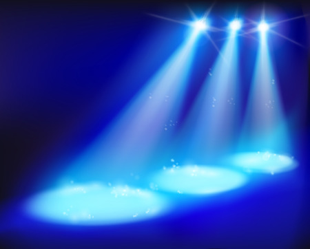 舞台照明。ベクトルの図。