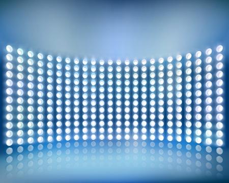 Blue screen panel. Vector illustration. Vector